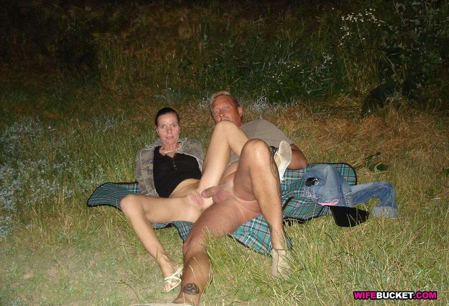 Wife sex outdoors