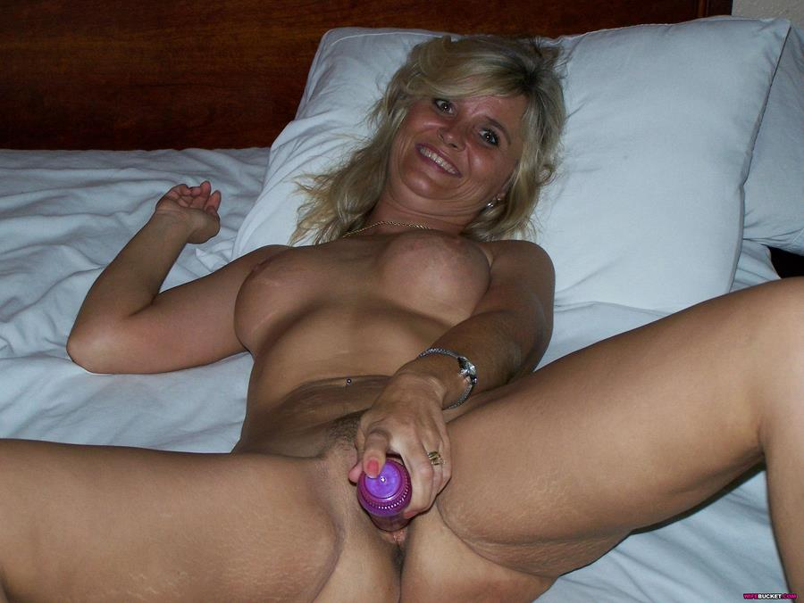 01 ... Amateur Wife. Wife Judy loves her dildos and she takes her special box ...
