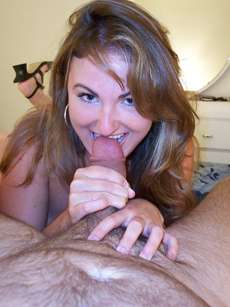 Funny MILF plays with cock
