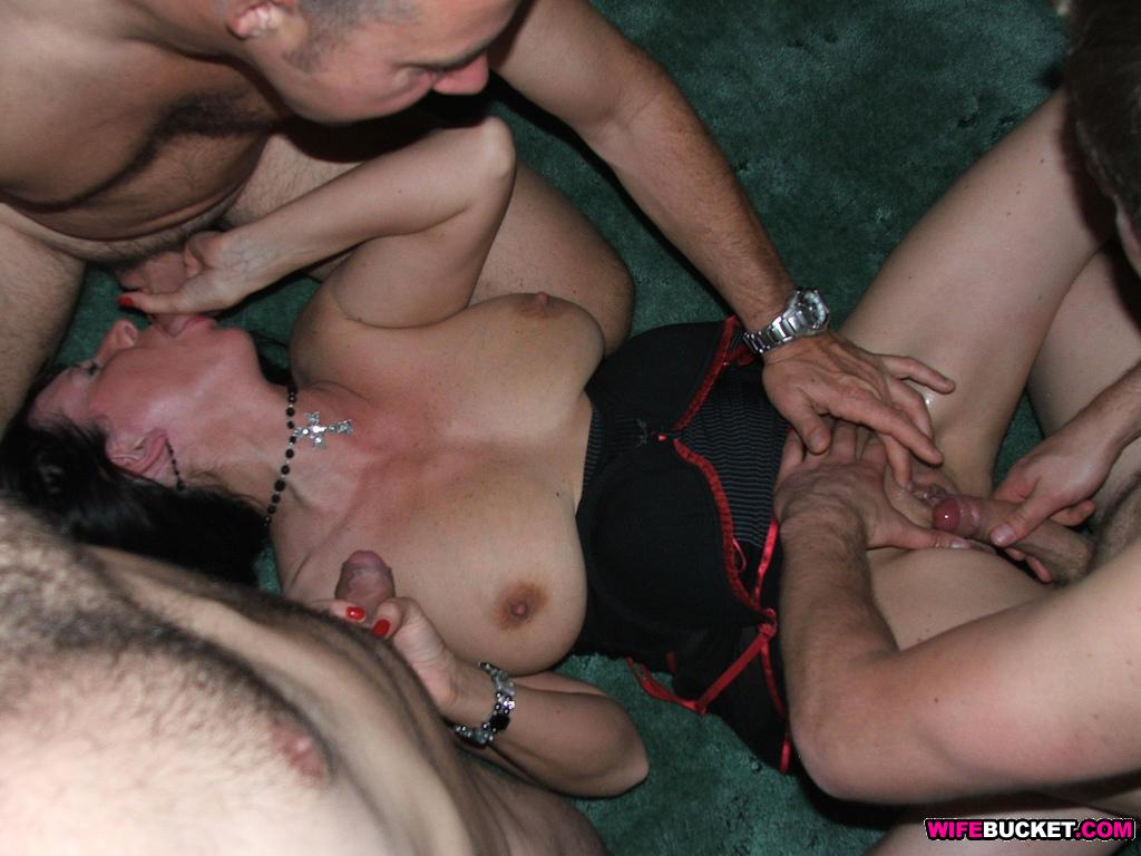 Girl slut in orgy