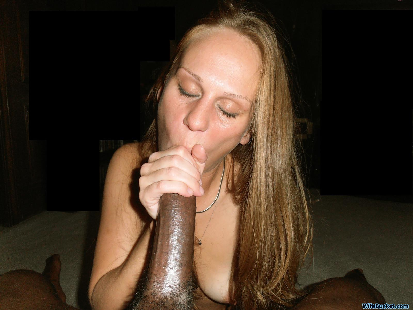White wife blowjob