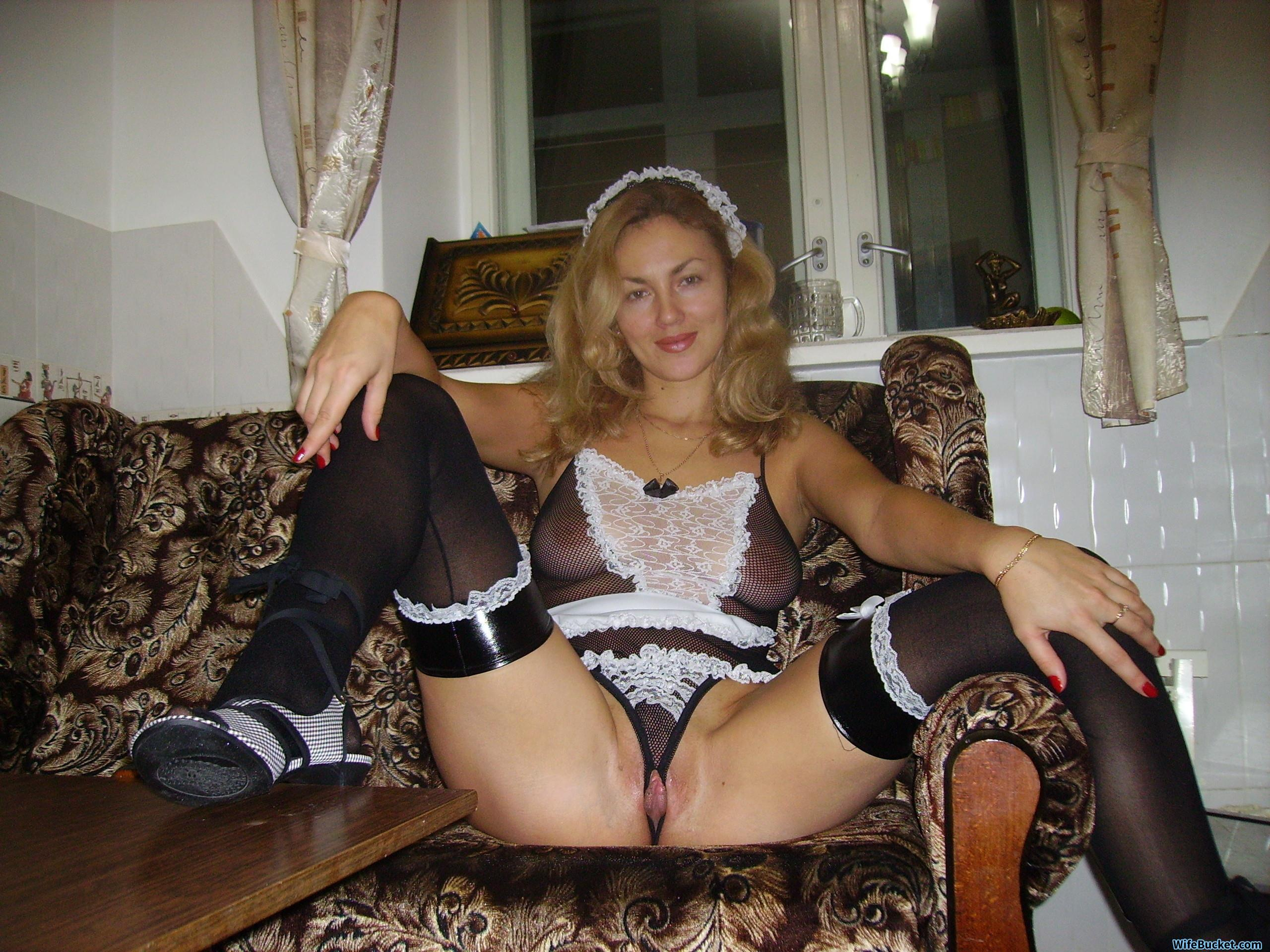 nude wife and maid