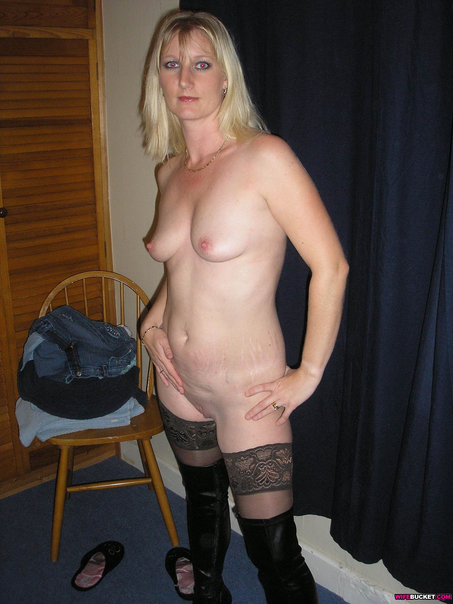 Hot sex slave gets her ass stretched with various tools 9