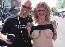 Swingers Flashing at Biker Rally